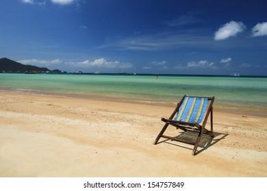 Tropical White Sand Beach Koh Tao island, Chumphon, Thailand