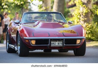 TROSA SWEDEN July 20 2017. Chevrolet Covette Stingray, model year 1970.