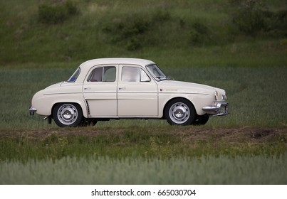 TROSA SWEDEN June 2017.  RENAULT R 1090 DAUPHINE year 1961. On the way to a veteran car meeting in the small town of Trosa in Sweden.