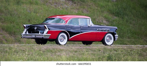 TROSA SWEDEN June 22, 2017. Buick Century Hardtop, year 1956.