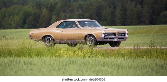 TROSA SWEDEN June 22, 2017. Pontiac Tempest GTO, 1967.