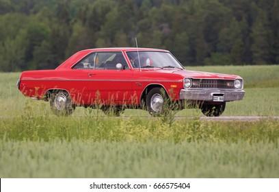 TROSA SWEDEN June 22, 2017. Dodge Dart Swinger, year 1973.