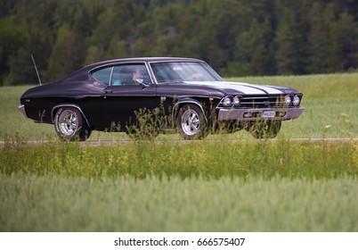 TROSA SWEDEN June 22, 2017. Chevrolet Chevelle SS, Year 1969.