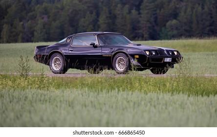 TROSA SWEDEN June 22, 2017. Pontiac Firebird transam, year 1979