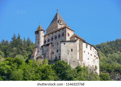 Trostburg castle at Ponte Gardena on South Tyrol in Italy
