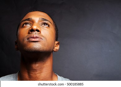 Troubled African American Man