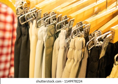 Trousers on hanger