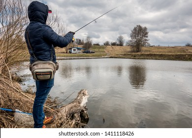 Trout fishing on the lake