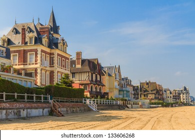 Trouville sur Mer beach promenade, Normandy, France