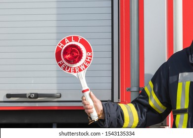 Trowel with the inscription Stop Fire Brigade