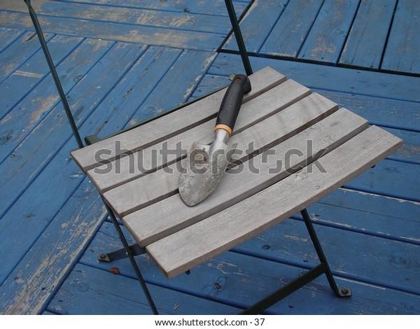 Trowel on chair