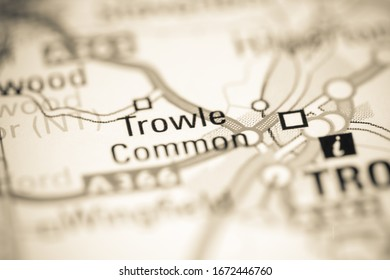 Trowle Common. United Kingdom on a geography map