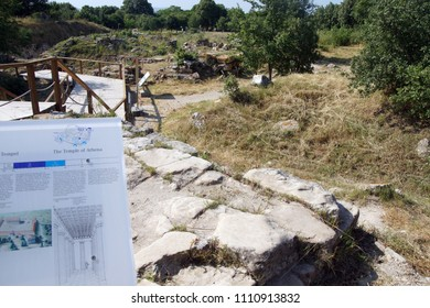 TROY, TURKEY - MAY 24, 2014 - Archaelology of the remains of the walls of Troy, possibly Priam's city of the Iliad, . Turkey