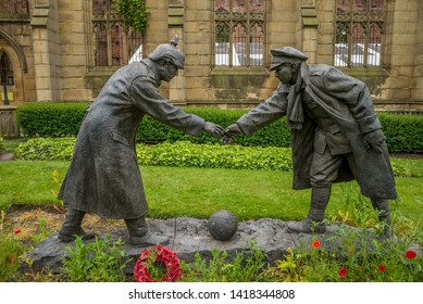 Truce Statue, Bombed out Church, Liverpool. May 2019