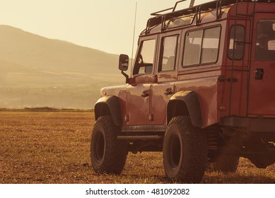 Truck car on offroad ,adventure trail