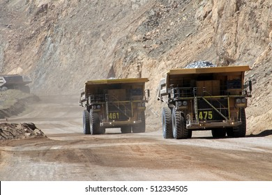 Truck at Chuquicamata, world's biggest open pit copper mine, Calama, Chile