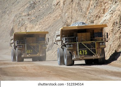 Truck at Chuquicamata, world's biggest open pit copper mine, Calama, Chile
