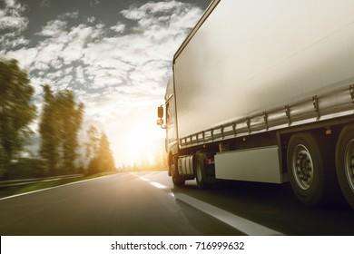 Truck delivered at sunrise