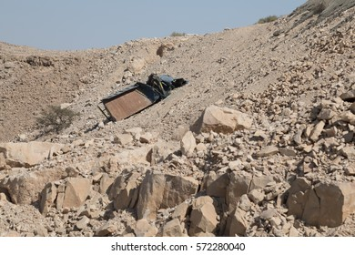Truck didn't make up to mountain Jabel Hafeet, near Al Ain