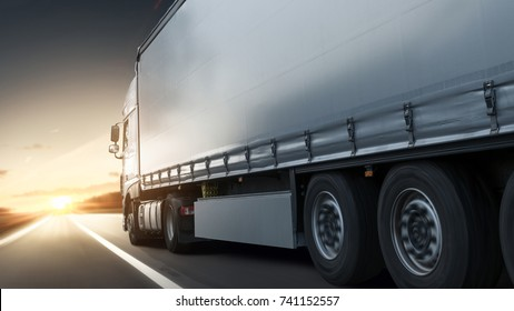 Truck driving on an expressway
