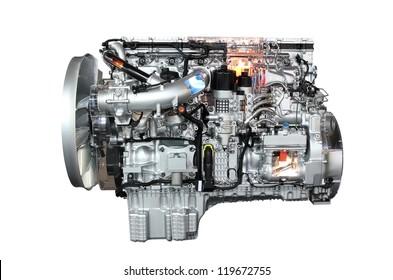 truck engine isolated on white background