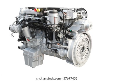 truck engine isolated on white