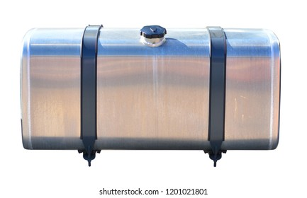 Truck fuel tank isolated on white