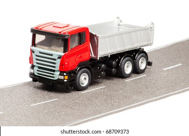 truck isolated over white background