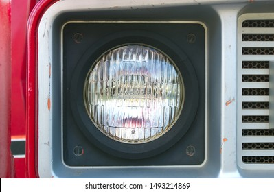 truck light red bumper round headlight red