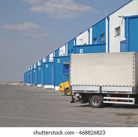 Truck Loading Dock at Distribution Warehouse