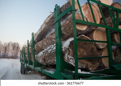 truck with logs in Russian Far East