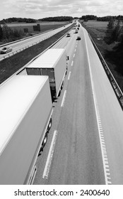 truck, lorry from above in black and white