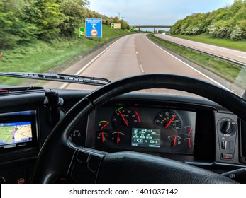 Truck / lorry driver dashboard - point of view