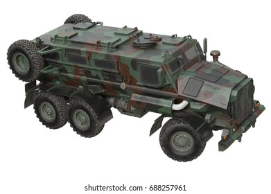 Truck military russian army vehicle. 3D rendering