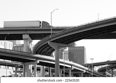 Truck on I-40 overpass in Memphis, TN