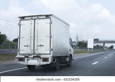 Truck on road container, transportation concept.
