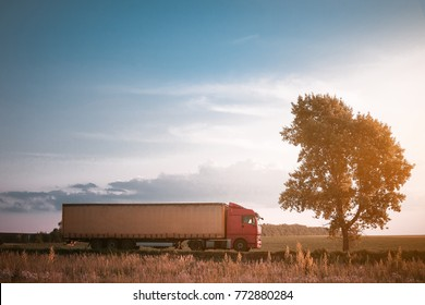 truck on the road freight transportation
