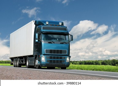 truck on  summer country highway