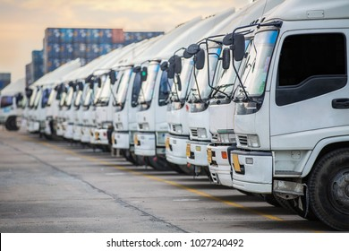 Truck parking this immage canuse for delivery, transportation, road, traffic, cargo and vehicle concept