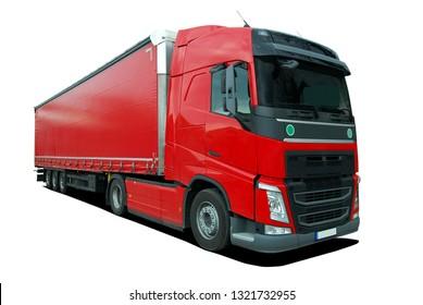 truck with semi trailer