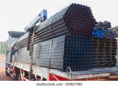 Truck steel used in construction.