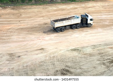 Truck or trailer, transporation for loading clay in construction business