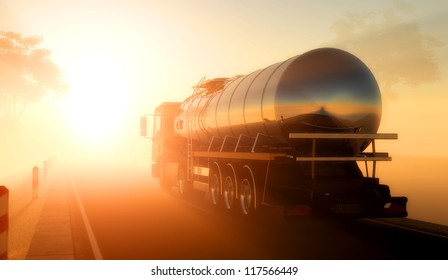 Truck to transport fuel.