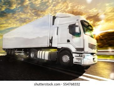 Truck transport. mixed media
