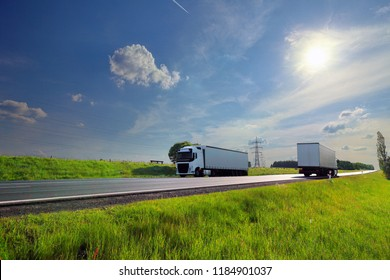 Truck transport on the road