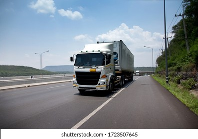 truck transportation on highway for delivery cargo in logistic industry