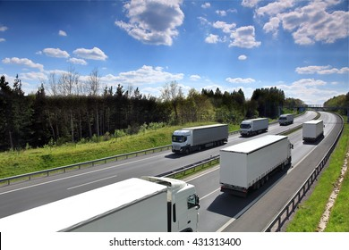 Truck transportation on the road