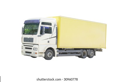 truck under the white background