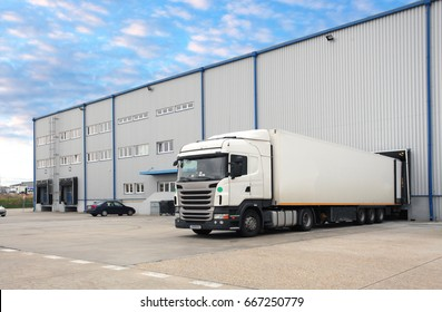 Truck in warehouse