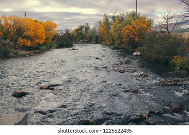 Truckee River in fall.